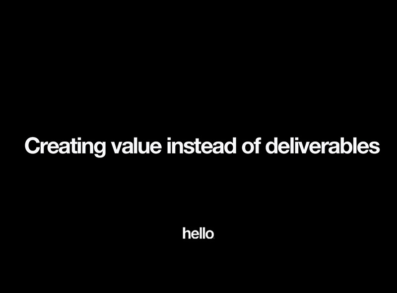 Creatingvalueinsteadofdeliverables